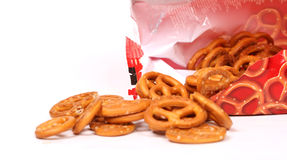Salted Pretzels. Pic of Salted Pretzels on white Royalty Free Stock Photos