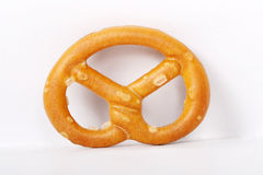 Salted Pretzels. Pic of Salted Pretzels on white Royalty Free Stock Image