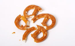 Salted Pretzels. Pic of Salted Pretzels on white Stock Images