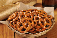 Salted pretzels Stock Photo