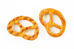 Salted pretzels Royalty Free Stock Photo