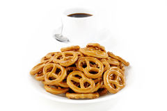 Salted pretzels Royalty Free Stock Photography