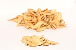 Salted pumpkin seeds Stock Photos