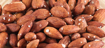 Salted Roasted Almonds Nuts Royalty Free Stock Photography