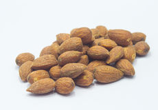 Salted and roasted almonds Stock Image