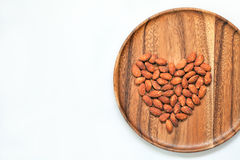Salted & roasted almonds Royalty Free Stock Image