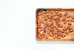 Salted & roasted almonds Stock Image