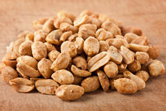 Salted and roasted peanuts Stock Photo