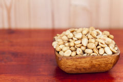 Salted, roasted, peanuts. Royalty Free Stock Images