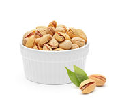 Salted and roasted pistachio nuts Royalty Free Stock Images