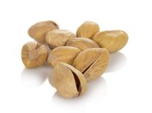 Salted and roasted pistachio nuts Royalty Free Stock Photos