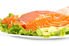Salted salmon Royalty Free Stock Image