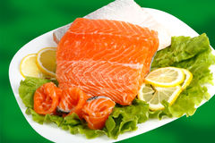 Salted salmon Royalty Free Stock Images