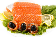 Salted salmon Stock Photo