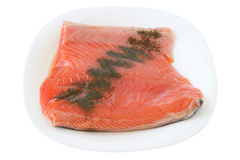 Salted salmon Stock Photos