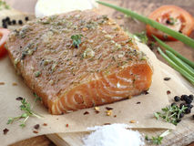 Salted salmon fillet Royalty Free Stock Image