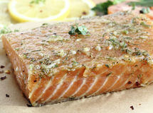 Salted salmon fillet Royalty Free Stock Photography