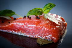 Salted salmon fillets Stock Image
