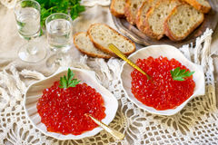 Salted salmon roe red caviar Royalty Free Stock Images