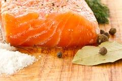 Salted salmon Royalty Free Stock Photos