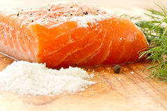 Salted salmon Royalty Free Stock Photos