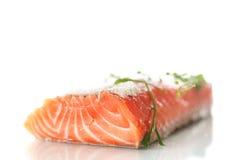 Salted salmon Stock Photo