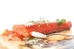 Salted salmon Stock Image