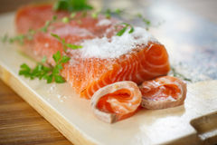 Salted salmon Stock Photography