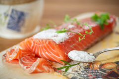 Salted salmon Stock Images