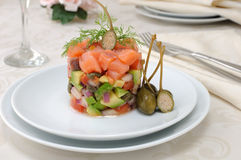 Salmon tartare Stock Images