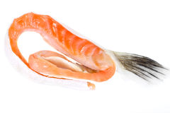 Salted Salmon Trimmings Royalty Free Stock Photography