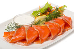 Salted sea trout with the flavor of orange Royalty Free Stock Image
