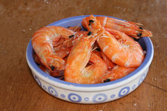 Salted shrimps Royalty Free Stock Images