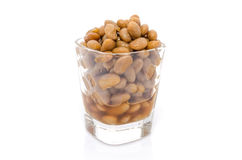 Salted soybeans isolate Royalty Free Stock Photos