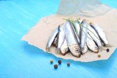 Salted sprat (fish) Stock Photo
