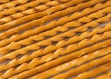 Salted sticks background. Closeup of some salt sticks in light back Stock Photos