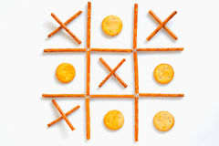 Salted sticks and biscuits Royalty Free Stock Image