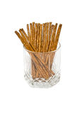 Salted sticks in glass Stock Image