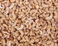 Salted and tasted cashews closeup Royalty Free Stock Photos