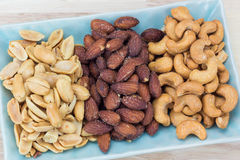 Salted variety nut Royalty Free Stock Photos