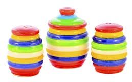 Salten-cellar pepparcaster och sockra-bowlar Royaltyfria Foton