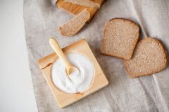 Salter and bread royalty free stock photo