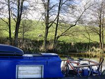Leeds Liverpool Canal at Salterforth in the beautiful countryside on the Lancashire Yorkshire border in Northern England. Salterforth is a village within the Stock Photo