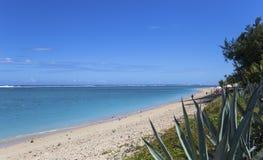 Salthaltig strand för La, La Reunion Island, Frankrike Royaltyfria Foton