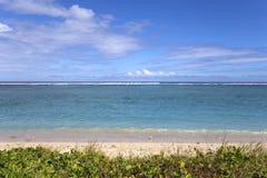 Salthaltig strand för La, La Reunion Island, Frankrike Arkivfoto