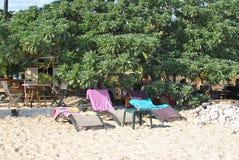 Salthaltiga les Bains, strand Reunion Island arkivbild