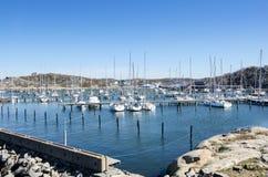 Saltholmens小游艇船坞 库存照片