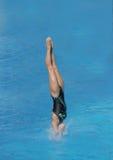 Salti in acqua Fotografia Stock