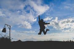 Salti al cielo Fotografia Stock Libera da Diritti