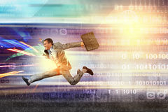 Salti alle tecnologie future Immagini Stock